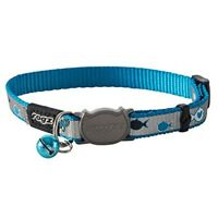 Rogz Cat Collar Breakaway Reflectocat - Small Fits 8in-12in Neck - Buckle Night