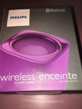 PHILIPS BLUETOOTH PORTABLE SPEAKER Purple WIRELESS RECHARGEABLE BT100V/27