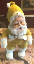 "Antique Rushton Santa Claus-Rare Yellow Suit 18"" Tall"