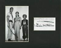 Kerwin Mathews The 7th Voyage of Sinbad Rare Signed Autograph Photo Display