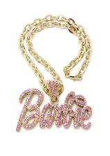New Barbie Pendant Chain Necklace Set