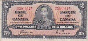 1937 Canada $2 Note, Pick 59c