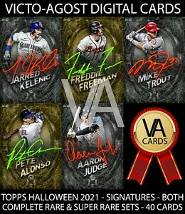 Topps Bunt Halloween Collection RARE & SUPER RARE SIGNATURE SETS 40 Cards [BUNT]