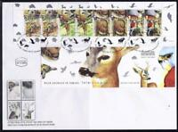 ISRAEL STAMPS 2001 WILD ANIMALS BOOKLET ON SPECIAL FDC