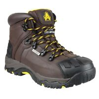 Amblers FS39 Brown Waterproof Slip-Resistant Hiker Safety Work Boot |6-15|