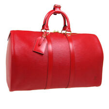 LOUIS VUITTON KEEPALL 45 TRAVEL HAND BAG SP0947 RED EPI LEATHER M42977 S09619