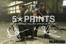 "Andrew Lincoln Norman Reedus poster foto 12x8 ""FIRMATO PP il WALKING DEAD DARYL"