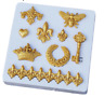 Crown Scroll Silicone Lace Mold Fondant Cake Chocolate Polymer Clay Mould