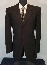 Exquisite Brown YVES SAINT LAURENT Wool Recent Runway Suit Jacket Pants 40