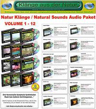 NATURE SOUNDS AUDIO PAKET - VOLUME 1-12 / Naturklänge Entspannung Relaxen Ruhe