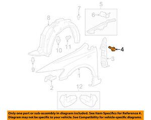 HONDA OEM Fender-Rear Shield Clip 91545SE0003