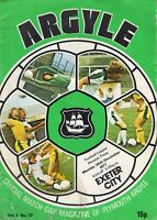 Plymouth Argyle V Exeter City Division 3 1977-78