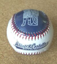 Abbott & Costello Who's on First baseball ball What's on Second I Don't  c37629