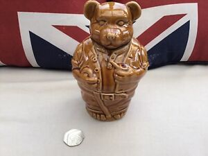 Vintage Glazed Bear Preserve Honey Jam Trinket Jar