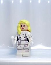 A716 Lego CUSTOM PRINTED WHITE CANARY MINIFIG cw Flash Arrow superhero Atom Roy