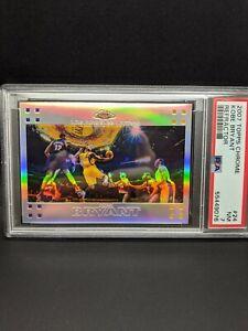 2007 TOPPS CHROME KOBE BRYANT REFRACTOR PSA 7 #24 /999 Lakers Rare Card HOLO