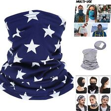 Blue stars Multi-Use Bandana Headwear Washable Neck Gaiter Wristband Headband