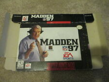 Madden 97 (Super Nintendo SNES) box only