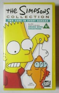 THE SIMPSONS TWO CARS IN EVERY GARAGE & BRUSH WITH GREATNESS VIDEO VHS 1993