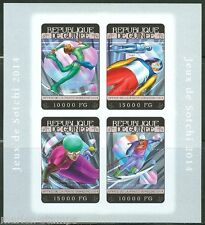 GUINEA 2014 SOCHI WINTER OLYMPIC GAMES SOUVENIR SHEET  IMPERFORATED MINT NH