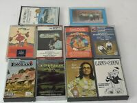 BUNDLE OF 10 CASSETTE ALBUM TAPES MIXED GENRES, vintage era