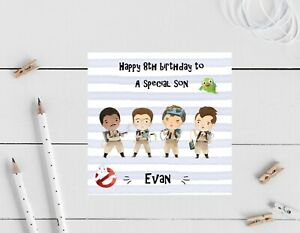 Personalised Birthday card- ghostbuster, son, nephew Grandson