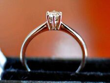 "Women's ""GMC"" White Gold 18ct Ring with Dimond 0.25ct, Size O in Box"