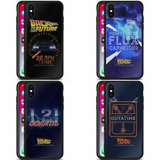 OFFICIAL BACK TO THE FUTURE I QUOTES BLACK HYBRID GLASS CASE FOR iPHONE PHONES