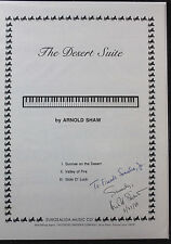 The Desert Suite by Arnold Shaw Sheet Music SIGNED to Frank Sinatra Jr