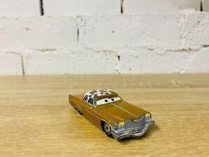 Tex Dinoco Gold Cow Hide Cadillac Coupe De Ville Disney Pixar Diecast Cars