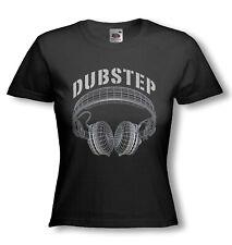 DUBSTEP T-SHIRT - HEADPHONES - Female DJ - Original Design - Ladies Fitted tee