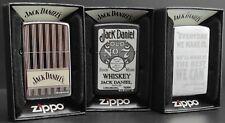 Zippo Lighter 3er Set: JACK DANIELS Whiskey