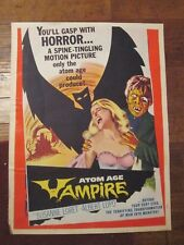 Atom Age Vampire   -Original  Movie Poster