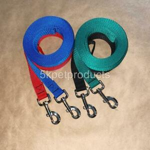 """LONG DOG TRAINING LEASH 1"""" WIDE LEAD LARGE BREEDS RECALL OBEDIENCE USA MADE"""