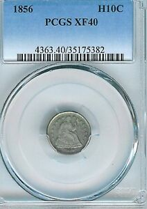 1856 Seated Liberty Half DIme : PCGS XF40