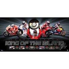 CASEY STONER MOTOGP SIGNED FACSIMILE KING OF THE ISLAND FRAMED SPORTSPRINT