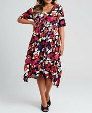 Plus Size Taking Shape Floral Multi Colour Romantic Fields Dress Size M or 20