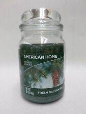 American Home Candle Fresh Balsam Fir Single Wick by Yankee Candle 19 oz New