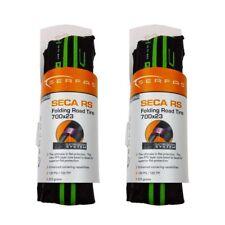Serfas Seca RS 700x23 Folding Road/Commuter Bike Tires Pair New GREEN-2 Pack