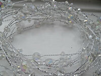 5 METRE SWARTZI CRYSTAL GARLAND  WIRED CRAFT BRIDAL WEDDING/VASE/DECORATION