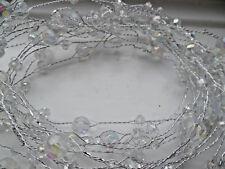 5 METRE SWARTZI CRYSTAL GARLAND CANDLE WIRED CRAFTBRIDAL WEDDING/VASE/DECORATION