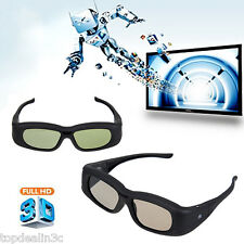 2PCS Rechargeable Active Shutter 3D Glasses Bluetooth For Sony/Panasonic/LG TV