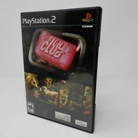 Fight Club (Sony PlayStation 2, 2004) PS2 Complete CIB Black Label