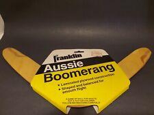 VINTAGE FRANKLIN AUSSIE WOODEN BOOMERANG in original packaging