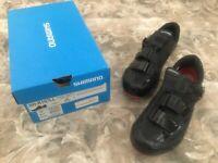 Shimano SH-R107LL Cycling SPD-SL & SPD Road Bike Shoes Black SH-R107 44