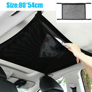 Car Roof Mesh Storage Bag Ceiling Net Pouch Ceiling Pockets Accessory For Toyota