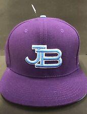 JB Justin Bieber Hat Cap Bieber Fever Snapback Adjustable Flat Brim Purple NWOT