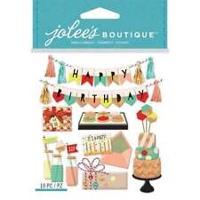 JOLEE'S BOUTIQUE DIMENSIONAL STICKERS ~MOD HAPPY BIRTHDAY