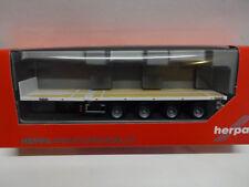 Herpa 076203-006 teletrailer hummer 4a estando impresa Weiss 1:87 nuevo