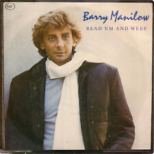 """Barry Manilow Read 'Em And Weep UK 45 7"""" sgl +Picture Sleeve +One Voice (Live)"""